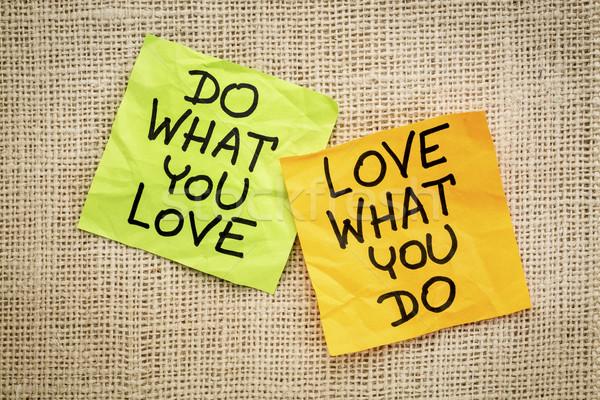 Cosa amore consiglio promemoria motivazionale parola Foto d'archivio © PixelsAway