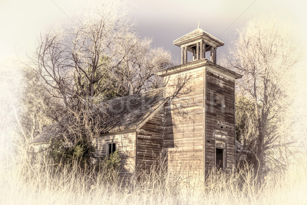 old abandoned schoolhouse in rural Nebraska Stock photo © PixelsAway