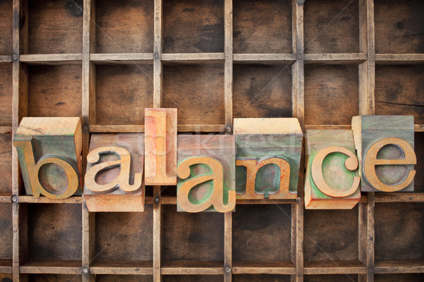 balance word in wood type Stock photo © PixelsAway