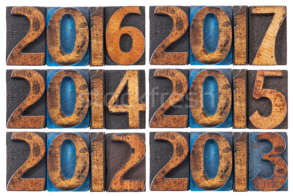 incoming years 2012-2017 Stock photo © PixelsAway