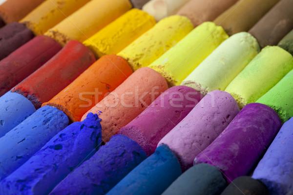 Pastel boya kalemleri soyut makro yumuşak sanatçı Stok fotoğraf © PixelsAway