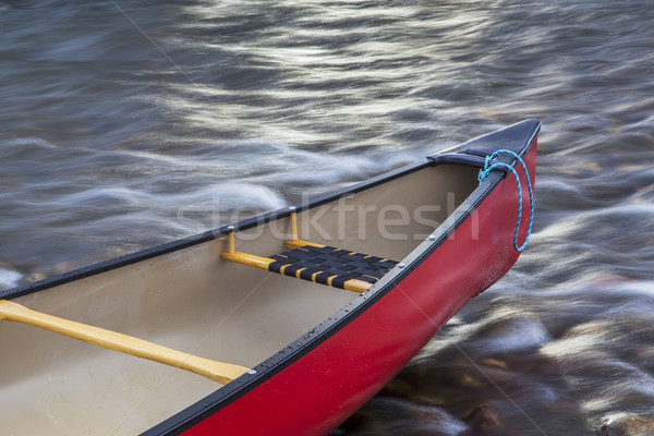 red canoe bow Stock photo © PixelsAway