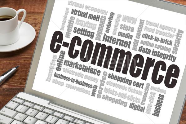 e-commerce word cloud Stock photo © PixelsAway