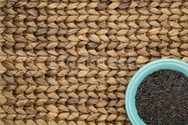Stockfoto: Wild · rijst · graan · keramische · kom · water