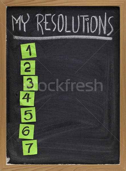 my resolutions list Stock photo © PixelsAway