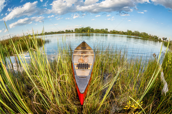 canoe in fish eye lens perspectrive Stock photo © PixelsAway