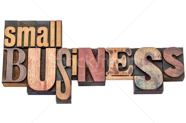 small business typography in wood type Stock photo © PixelsAway