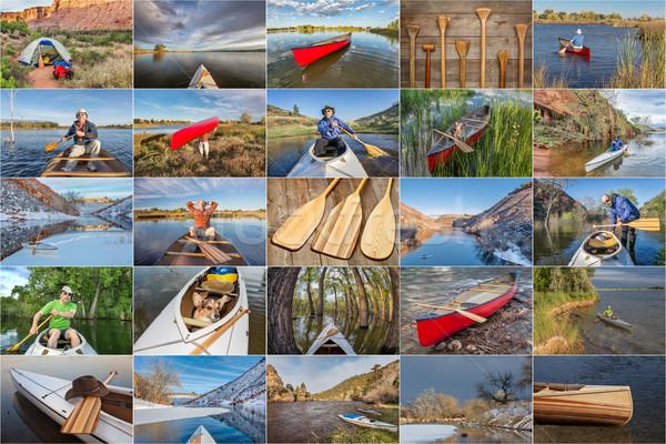 Kano foto collectie rivieren Colorado Stockfoto © PixelsAway