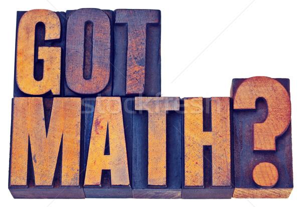 数学 質問 木材 タイプ 孤立した 文字 ストックフォト © PixelsAway