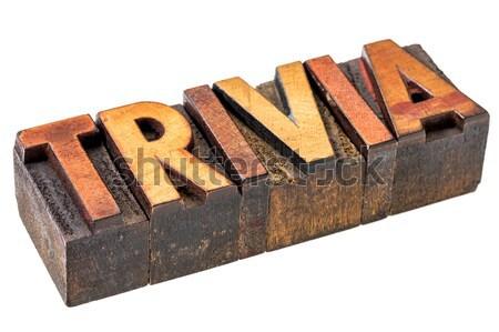 Carma palavra abstrato madeira tipo isolado Foto stock © PixelsAway