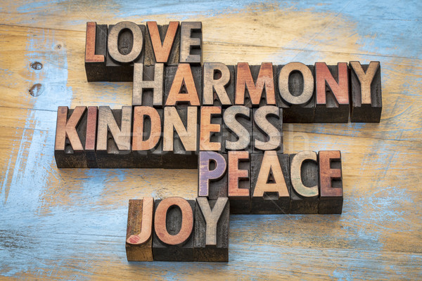 Stock photo: love, harmony, kindness, peace and joy
