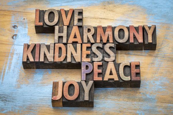 Amor harmonia bondade paz alegria inspirado Foto stock © PixelsAway