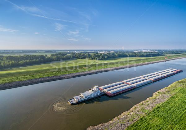 Cadeia rochas canal Mississipi rio acima Foto stock © PixelsAway