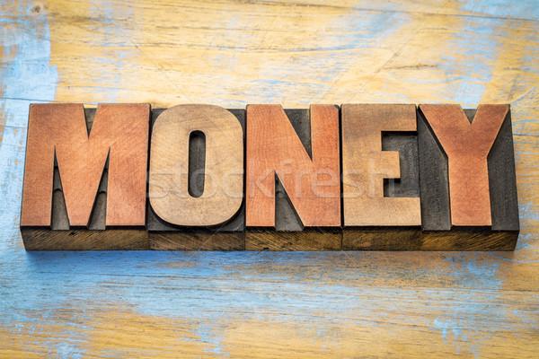 Stock fotó: Pénz · szó · absztrakt · magasnyomás · fa