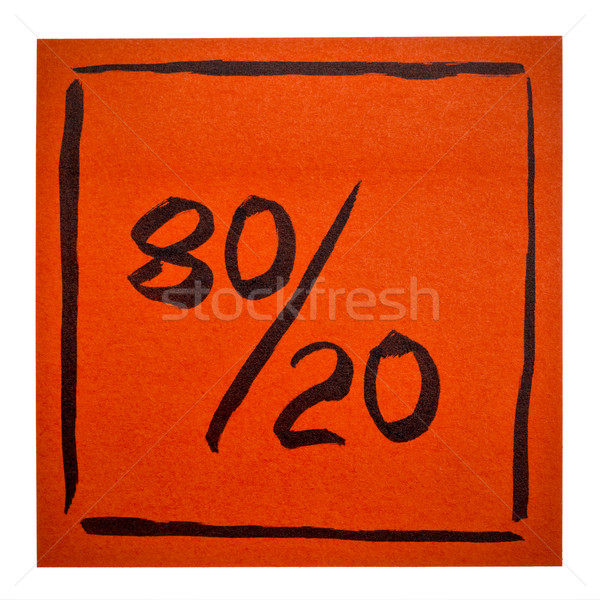 Pareto principle on isolated sticky note Stock photo © PixelsAway