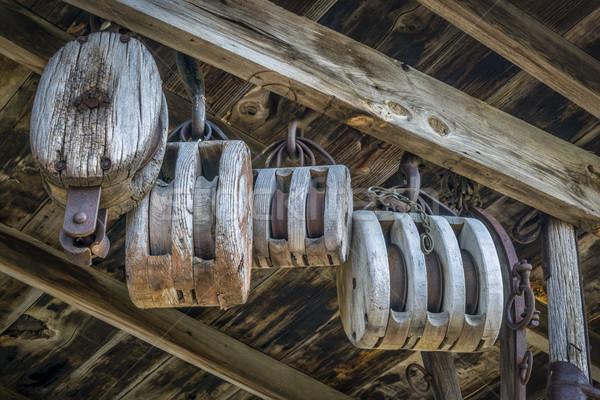 Bağbozumu ahır ahşap eski atölye Stok fotoğraf © PixelsAway