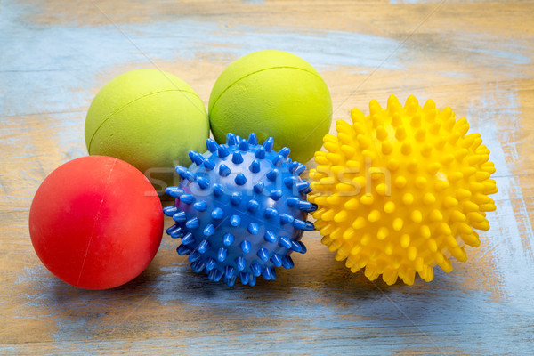 self massage and reflexology therapy balls Stock photo © PixelsAway