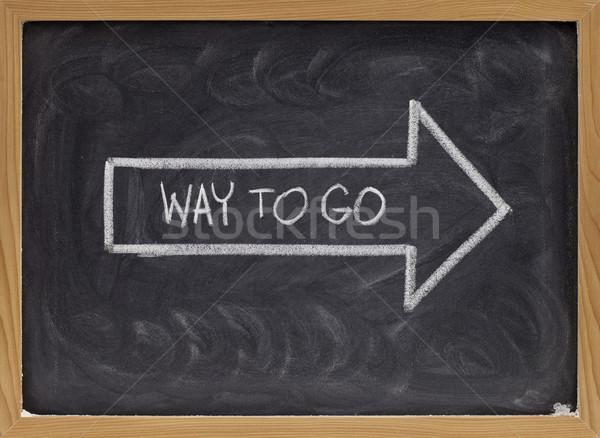 way to go on blackboard Stock photo © PixelsAway