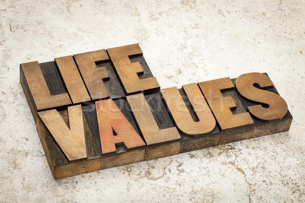 życia wartości drewna typu słowa vintage Zdjęcia stock © PixelsAway
