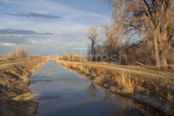 irrigation channel in Colorado Stock photo © PixelsAway