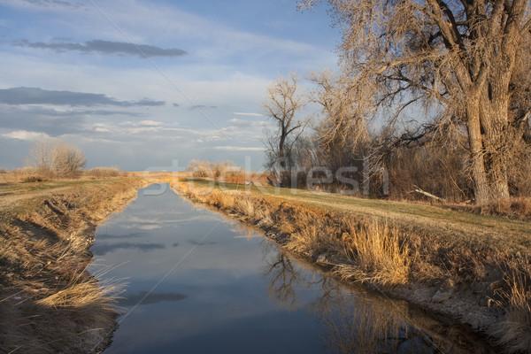Irrigação canal Colorado oriental cedo Foto stock © PixelsAway