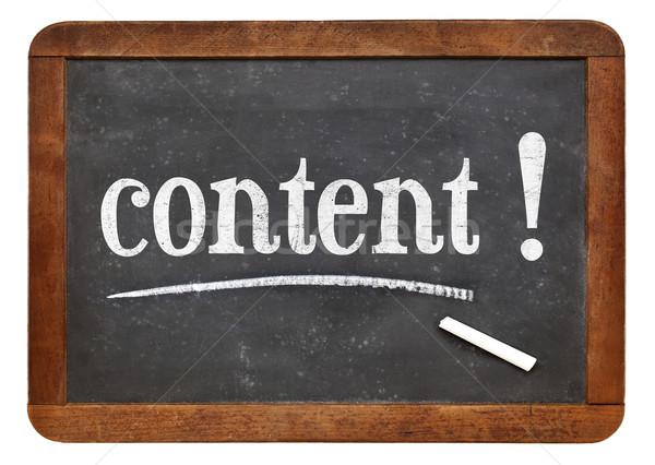 Conteúdo lembrete lousa recomendação blogging escrita Foto stock © PixelsAway