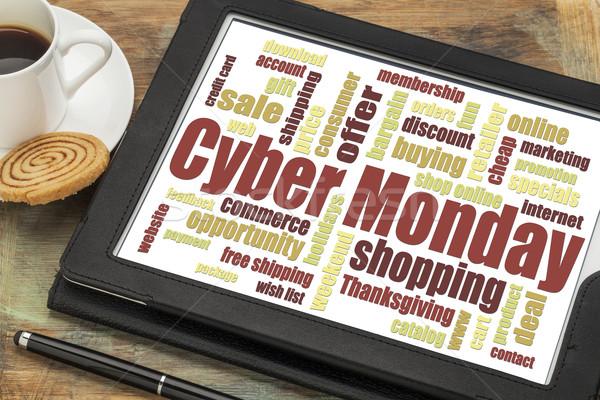 Cyber Monday word cloud Stock photo © PixelsAway
