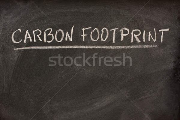 carbon footprint title on a blackboard Stock photo © PixelsAway