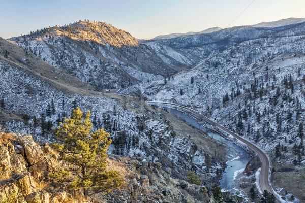 Cache la Poudre River Canyon Stock photo © PixelsAway