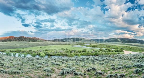 Schemering noorden rivier Colorado park boven Stockfoto © PixelsAway