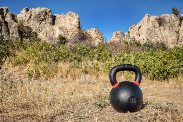 kettlebell outdoor fitness concept Stock photo © PixelsAway