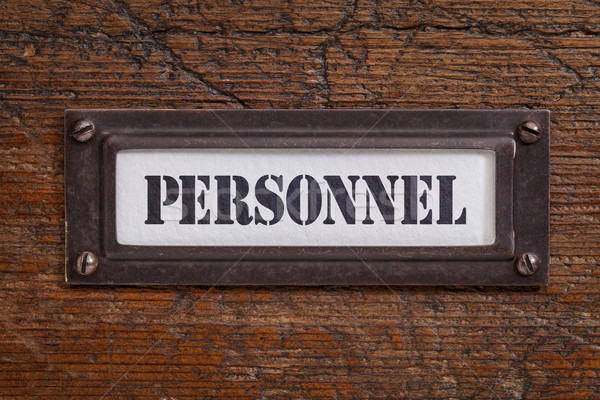 personnel - file cabinet label Stock photo © PixelsAway