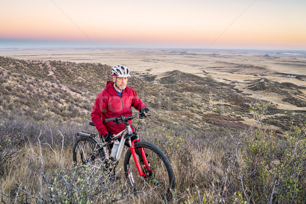 mountain biking in Colorado foothills Stock photo © PixelsAway