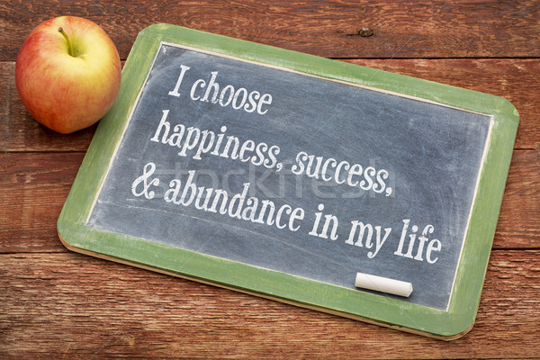 I choose happiness in my life Stock photo © PixelsAway