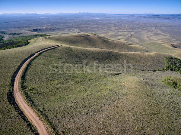 windy back country road aerial view Stock photo © PixelsAway