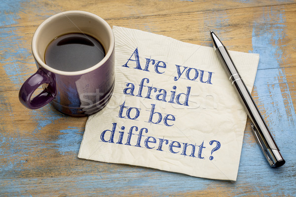 Are you afraid to be different? Stock photo © PixelsAway