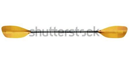 Сток-фото: байдарках · овальный · изолированный · белый