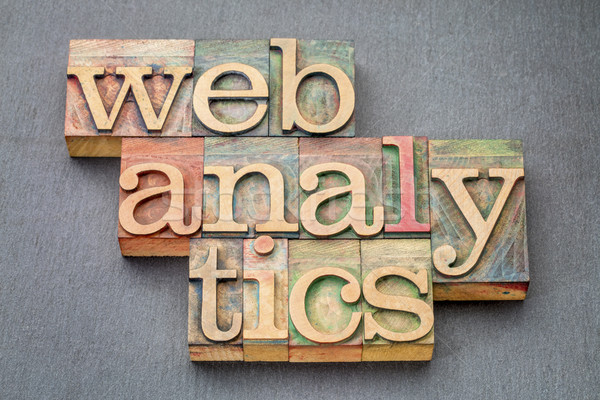 web analytics banner in wood type Stock photo © PixelsAway