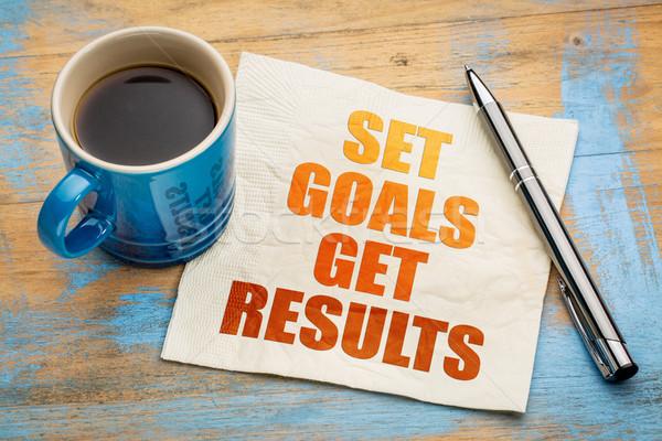 Set goals, get results Stock photo © PixelsAway
