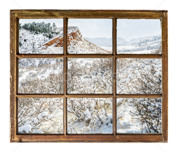 Колорадо аннотация пейзаж зима декораций Vintage Сток-фото © PixelsAway