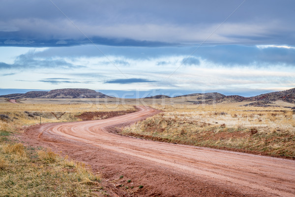 Dirt ranch road at Colorado foothills Stock photo © PixelsAway