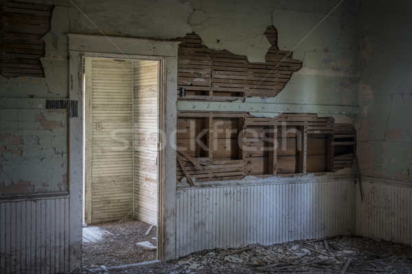 ruined interior of an old abandoned school house Stock photo © PixelsAway