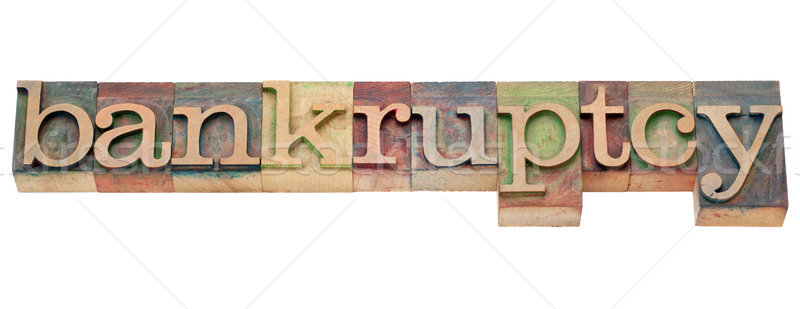 bankruptcy word in letterpress type Stock photo © PixelsAway