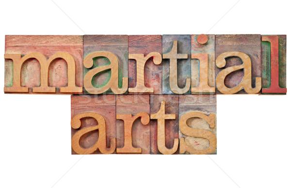 martial arts in letterpress type Stock photo © PixelsAway