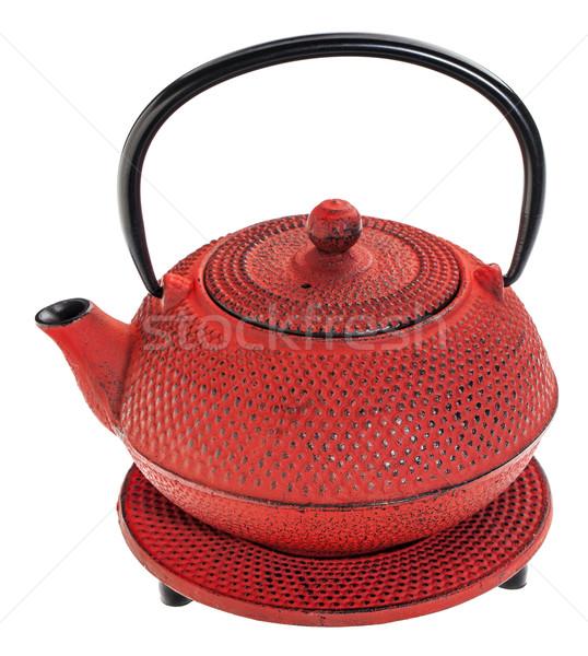 red tetsubin teapot Stock photo © PixelsAway