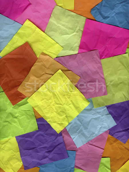 coloful crumpled sticky notes Stock photo © PixelsAway