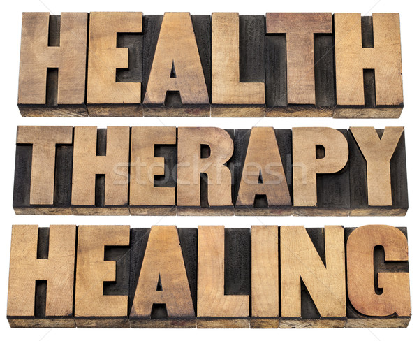 health, therapy and healing words Stock photo © PixelsAway