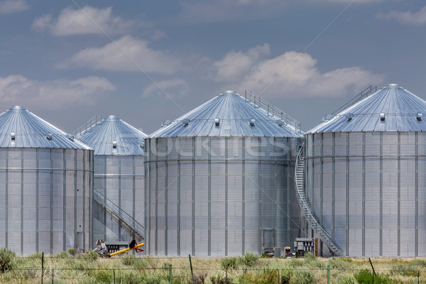 agriculture storage silos Stock photo © PixelsAway
