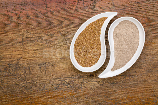 teff grain and flour Stock photo © PixelsAway