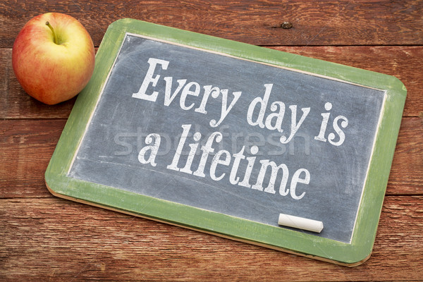 Every day is a lifetime on blackboard Stock photo © PixelsAway